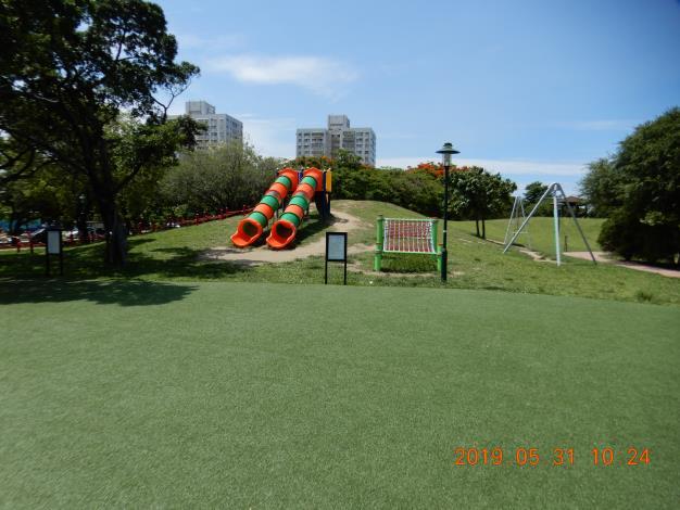 明和公園整修工程-彩色溜滑梯