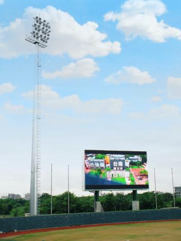 臺南亞太國際棒球訓練中心-少棒球場內外野LED看板(播敦宣傳影片)