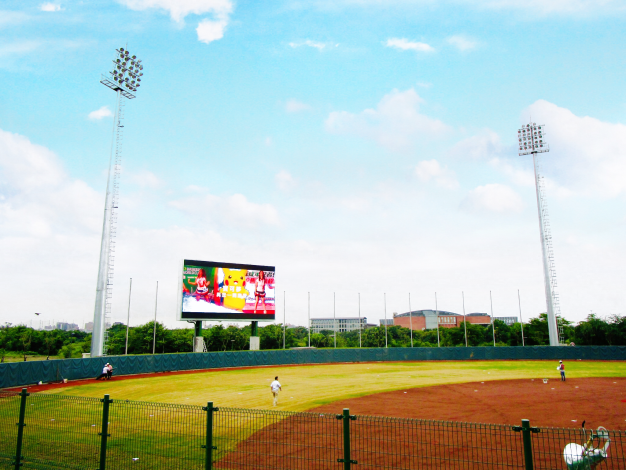 臺南亞太國際棒球訓練中心-少棒球場內外野LED看板(寶可夢與啦啦隊影片)