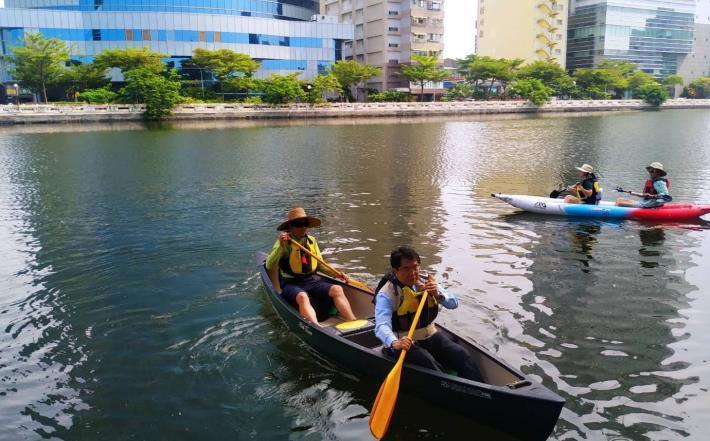 運河星鑽亮點之一 大涼生態公園今開放啟用-市長試用水上活動