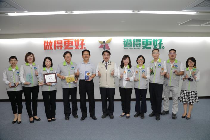 南市政府團隊108年環保績效特優獎項全國最高