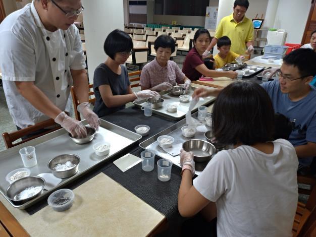 體驗彩花糕製造