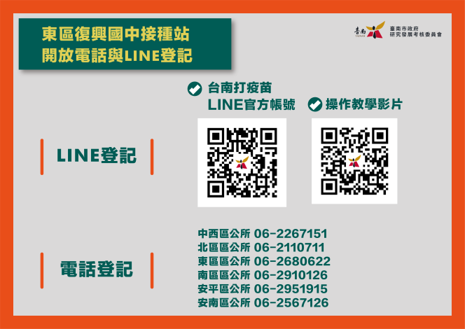 臺南市疫苗掛號系統計畫如何登記
