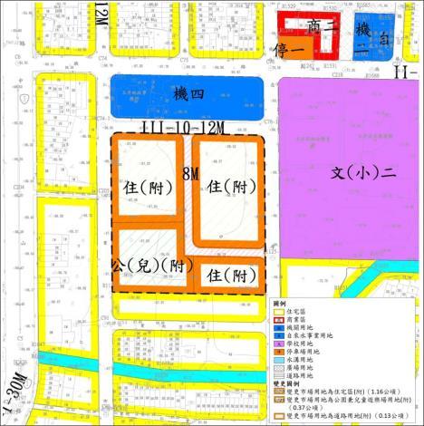 變更玉井都市計畫(第四次通盤檢討)案」市地重劃示意圖