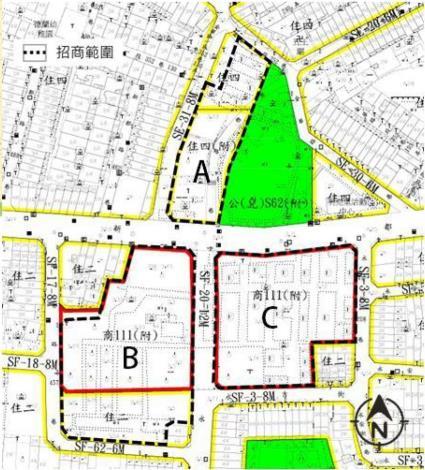 圖4南區大鵬五村招商範圍區位示意圖