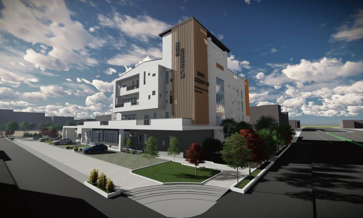 北區區政大樓東南側轉角開放空間與好望角景觀模擬圖_0