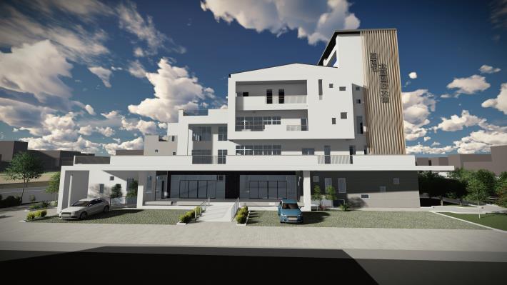 北區區政大樓主要出入口建築立面模擬圖_0