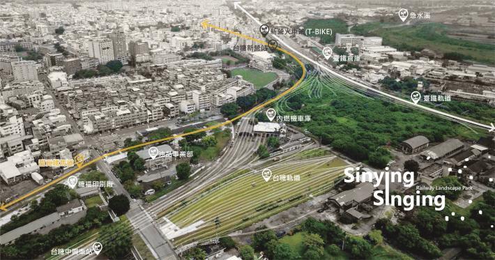 圖5-新營鐵道地景公園為新營生活圈、三鐵運輸重要核心節點