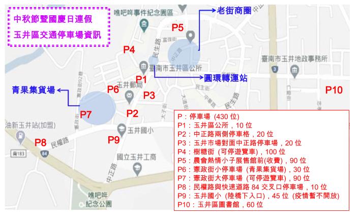 Microsoft Word - 2020 玉井區停車場盤點