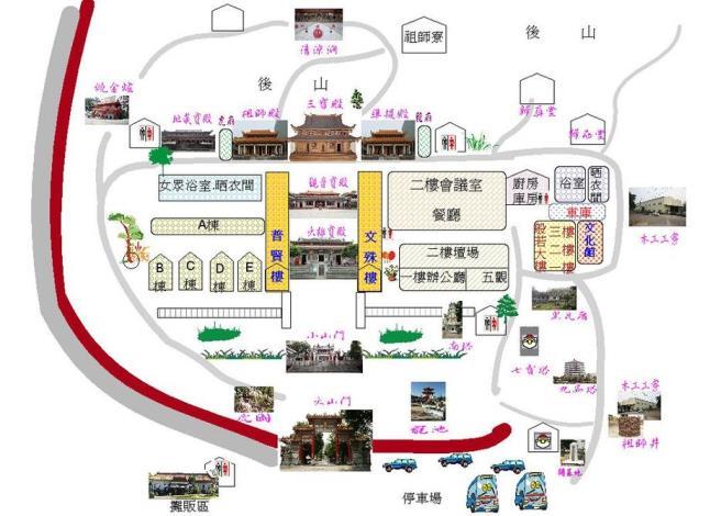 大仙寺平面圖