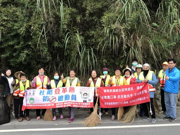 環境清潔日,盞保志義工們沿街打掃