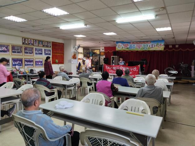 白河區公所至永安里呷飯廳宣導防災的知識1