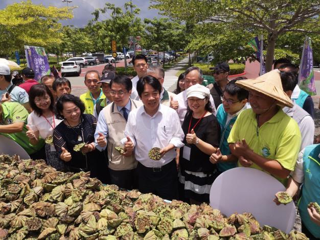 副總統、市長等人參觀蓮蓬龍舟
