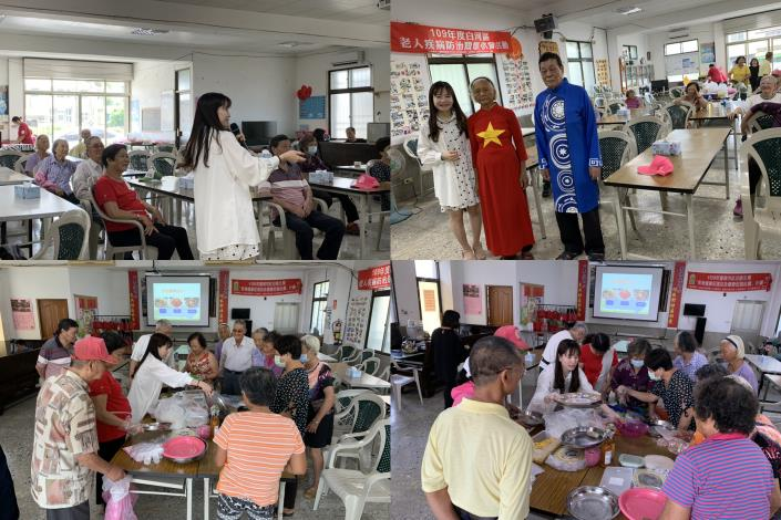 羽姍老師為長輩們介紹越南服飾與料理