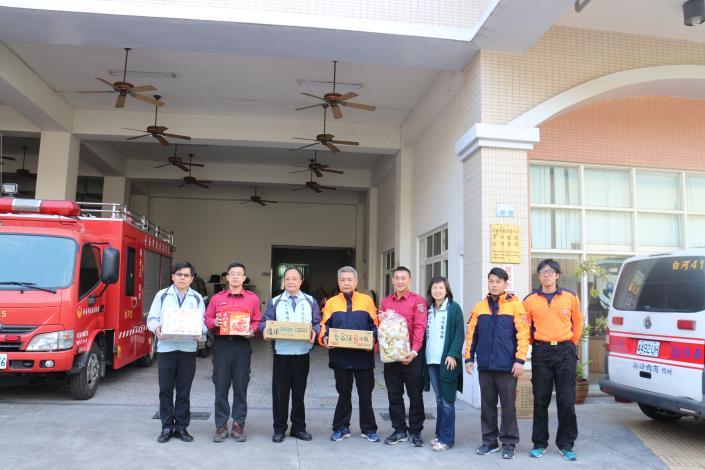 白河消防分隊感謝公所致贈慰勞品