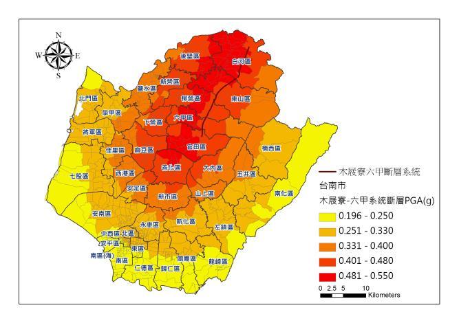 台南市-木屐寮-六甲地震事件-PGA圖片