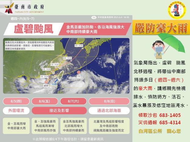 0805盧碧颱風嚴防豪大雨