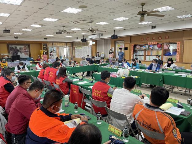 東區區公所接受市府災害防救業務考核情形