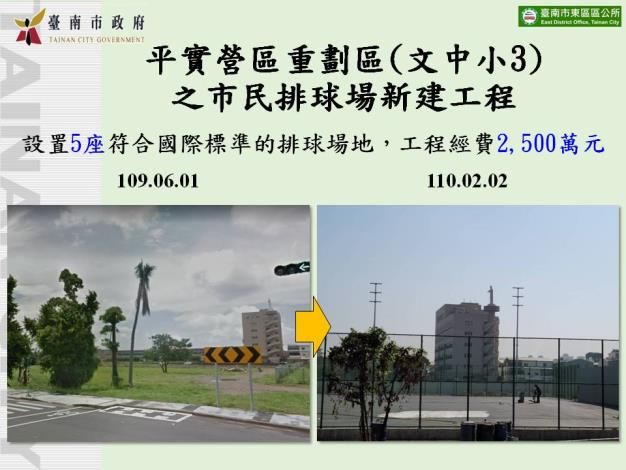 平實營區重劃區之市民排球場新建工程
