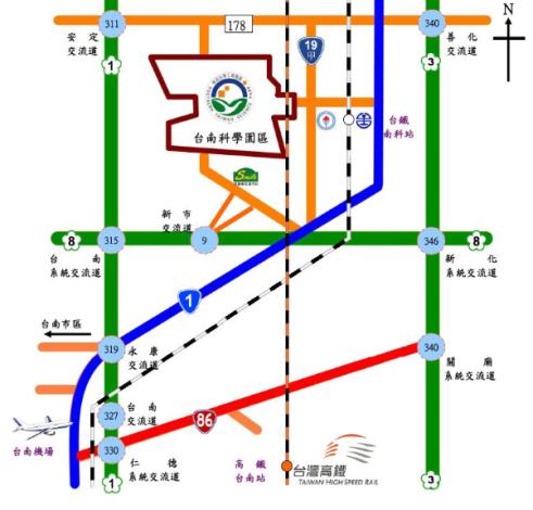 南科交通路線圖