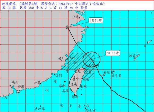 哈格比颱風氣象資料