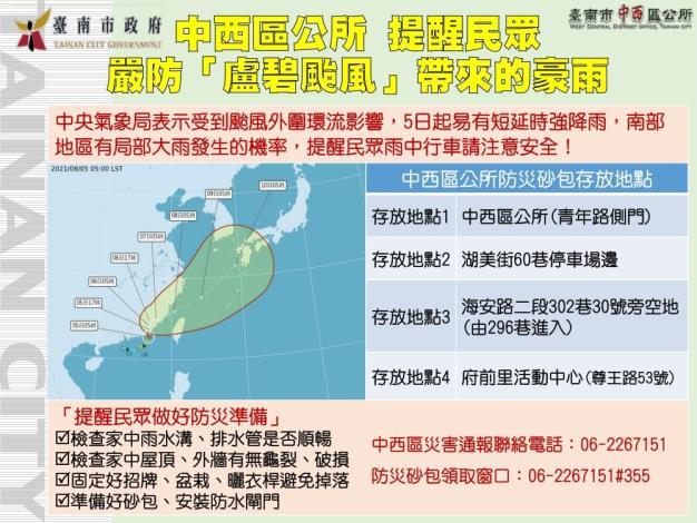 區公所颱風防災圖表資料