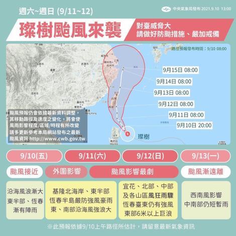 颱風路徑預測及影響圖
