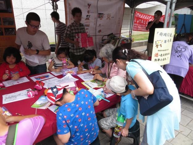 區公所「府城印象」著色畫民眾參與情形