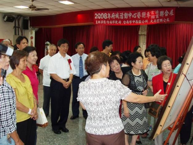 「2008活動中心藝術節-師生書畫聯展」活動情形