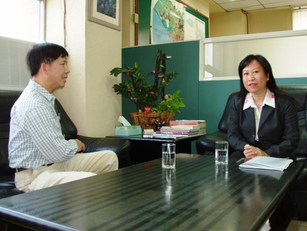 黎區長接受聯合報專訪情形