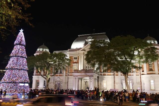 國立臺灣文學館前聖誕燈飾