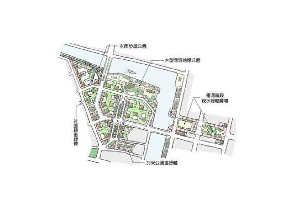 原中國城暨運河星鑽示意圖