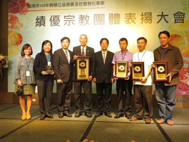 賴市長與中西區獲獎宗教團體合影