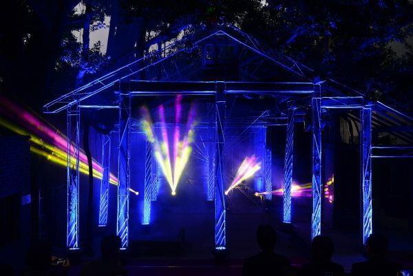 藍晒圖夜晚3D燈光秀