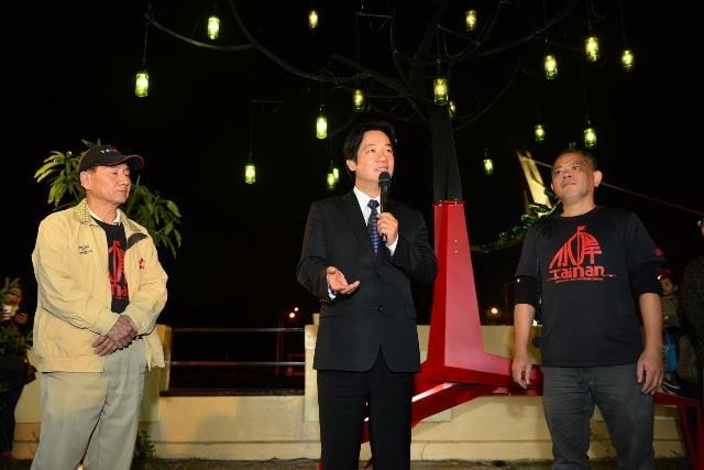 賴市長感謝當地里民自發性推動水岸藝術節