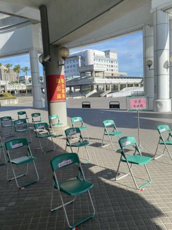 自即日起,市政中心洽公不入內,並設置外送專區(共5張)-3