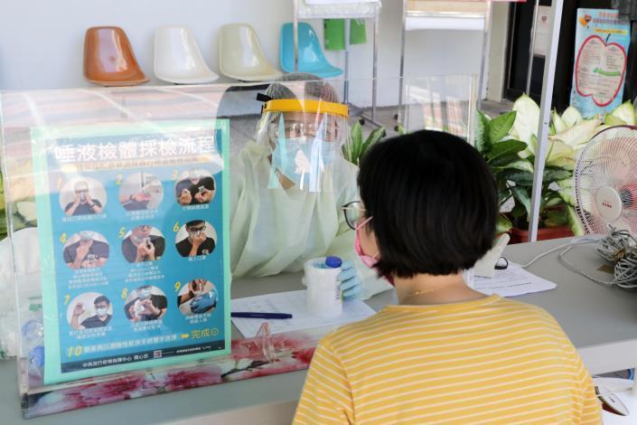 台南市東區衛生所今率先設立篩檢站  黃偉哲:4區衛生所將陸續提供高風險群之COVID-19擴大篩檢服務(共10張)-5