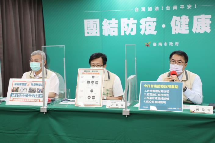黃偉哲報告台南新增2例個案資訊 同時開罰西港群聚賭博84萬及性交易90萬(共4張)-2