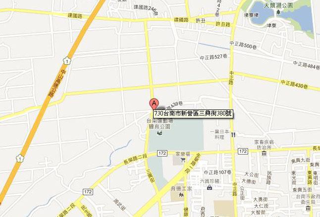 新營區民治辦公室地圖