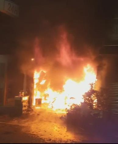 麻豆區火災燃燒情形情形