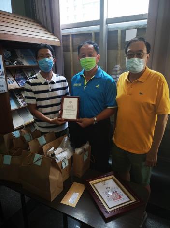 山難家屬捐贈感謝臺南市政府消防局