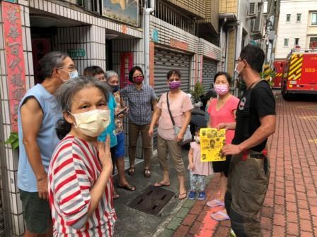 110年8月13日復興分隊至永康區中華路216巷35弄住宅火警災後防火宣導-6
