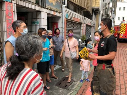 110年8月13日復興分隊至永康區中華路216巷35弄住宅火警災後防火宣導-5