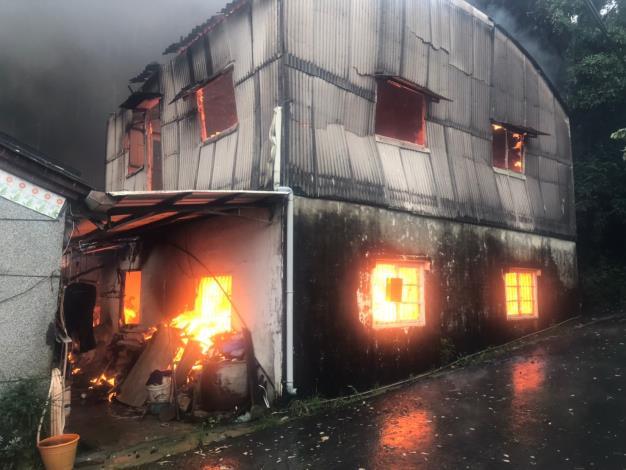 1100807-龍崎區火警現場照片2