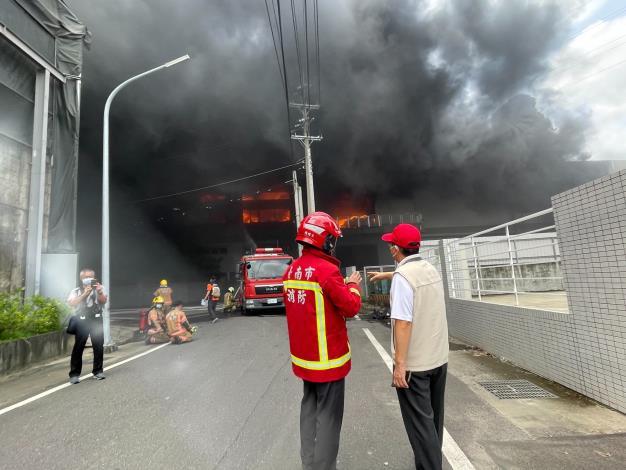 7月2日台南市山上區明和里北勢洲29-29號工廠火警-5