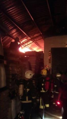 火災現場搶救照片