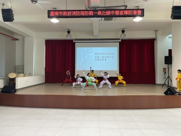 臺南市政府消防局舉辦防範一氧化碳宣導記者會-新市國小「口說藝術團」到場表演