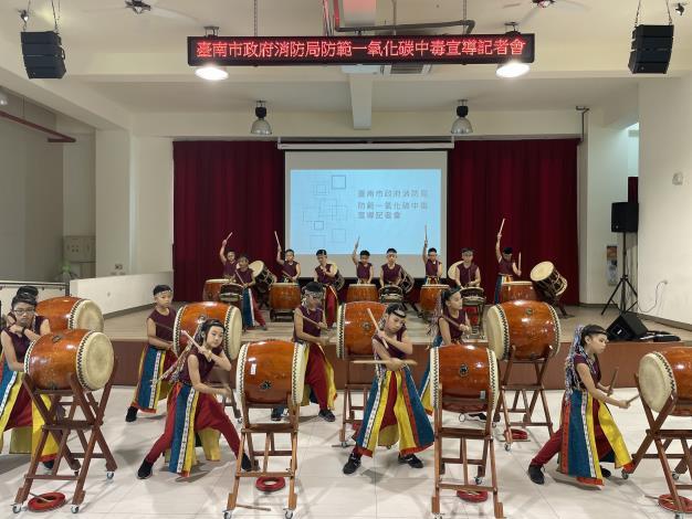 臺南市政府消防局舉辦防範一氧化碳宣導記者會-新市國小表演