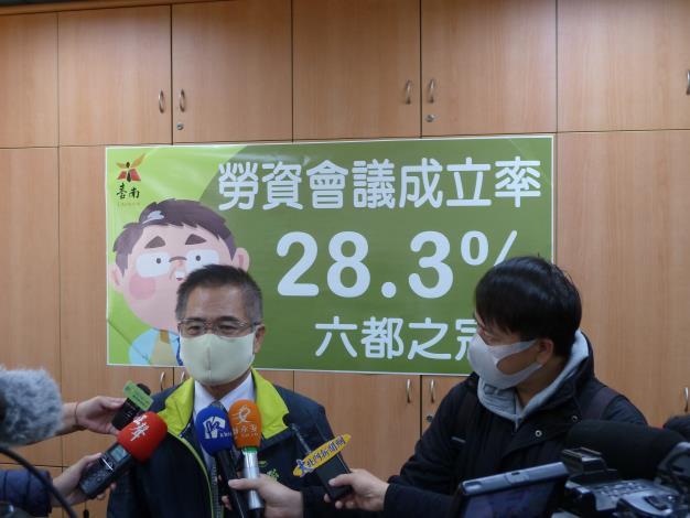 「勞資會議成立率,臺南市得第一」,優化線上申辦提昇效率(共3張)-1