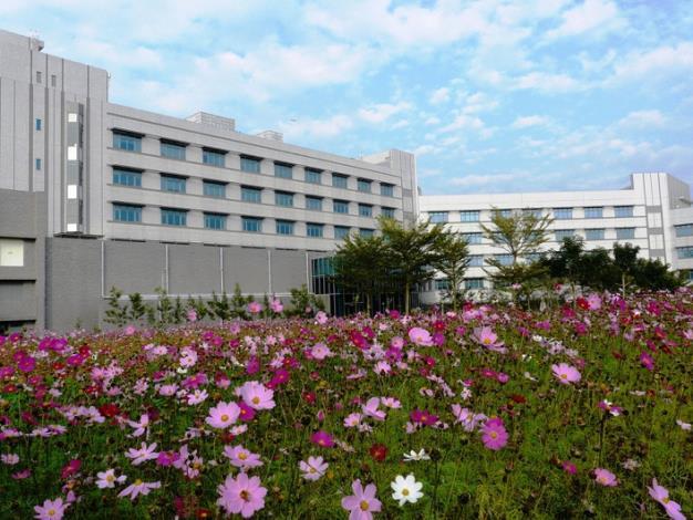 藍天下工研究南分院-六甲院區的花海